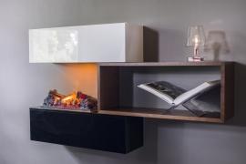 Stack van Faber Dimplex inclusief de elektrische cassette 600 met OptiMyst vuur. Nieuwste model!